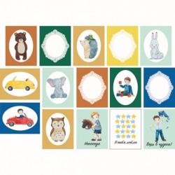 """Набор карточек """"Мальчишки"""", 15 односторонних карточек, размер 5.5х7.0 см, плотность 190гр\м2."""