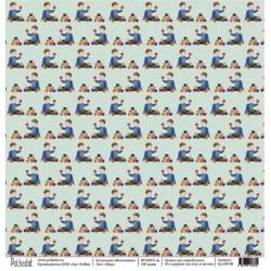 "Односторонняя бумага Игра ""Мальчишки"", 30.5х30.5 см, плотность 190 гр\м2."