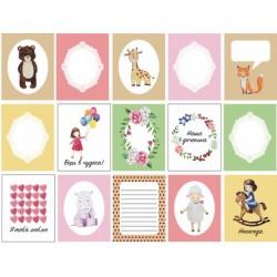 """Набор карточек """"Девчонки"""" 15 односторонних карточек, размер 5.5х7.0 см, плотность 190гр\м2."""
