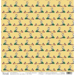"""Односторонняя бумага Игра """"Девчонки"""", 30.5х30.5 см, плотность 190 гр\м2."""