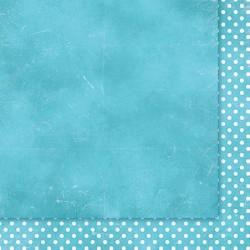 """Двусторонняя бумага """"Wielki Błękit 02"""", 30.5*30.5см, 200гр/м"""