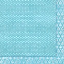 """Двусторонняя бумага """"Wielki Błękit 03"""", 30.5*30.5см, 200гр/м"""