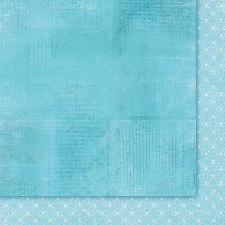 """Двусторонняя бумага """"Wielki Błękit 05"""", 30.5*30.5см, 200гр/м"""