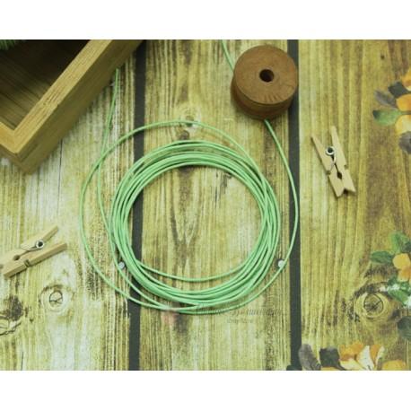 """Шнур """"Gamma""""   1 мм вощеный, св-зеленый, 1м"""