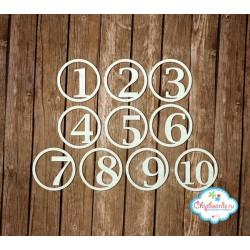 "Чипборд ""Цифры 8"", 3.5см"
