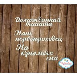 "Чипборд ""Фразы для Альбома 3"", 6.5мм"
