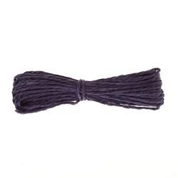 Шнур бумажный крученый, темно-фиолетовый, 5м
