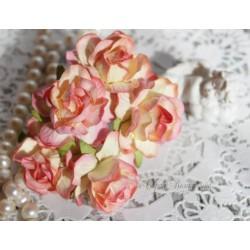 Дикая роза, цвет шампань с нежно-розовым переходом, 4см, 1шт