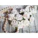 Дикая роза, цвет белый, 30мм, 1цветок
