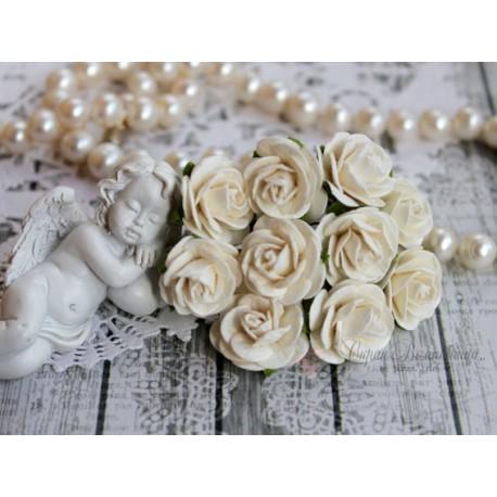 Роза Мальбери, цвет сливочный, 20мм, 1 цветок