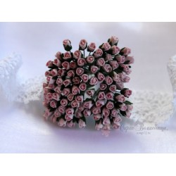 Розы в бутонах, 4мм, цвет нежно-розовый, 1шт.