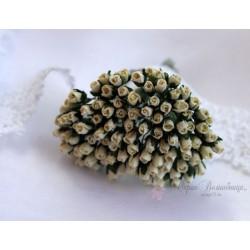 Розы в бутонах, 4мм, цвет сливочный, 1шт.