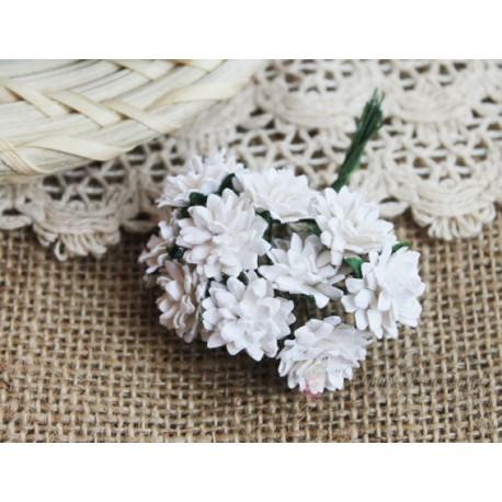 Астра, цвет белый,  15мм, 1 цветочек