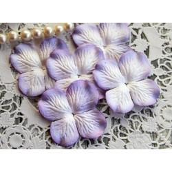 Цветы гортензии, цвет Нежная сирень, 50мм, 10 цветочков