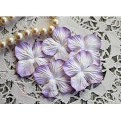Цветы гортензии, цвет Нежная сирень, 35мм, 10 цветочков
