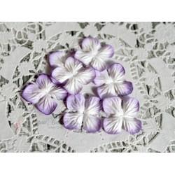 Цветы гортензии, цвет Нежная сирень, 25мм, 10 цветочков