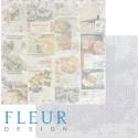"""Лист бумаги для скрапбукинга """"Рецепты"""", коллекция """"Вишневый десерт"""", 30х30, плотность 190 гр"""