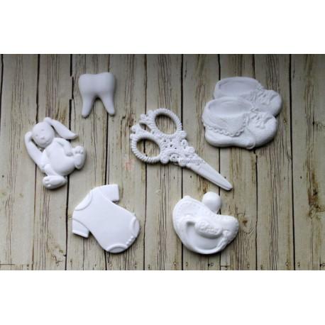 """Набор пластиковых фигурок  """"Мамины сокровища"""", от 15 до 39 мм, 6шт."""