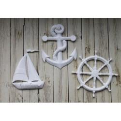 "Набор пластиковых фигурок   ""Морской набор с якорем"", от 34 до 40 мм, 3шт."