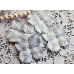 Цветы гортензии, цвет бледно-голубой, 10 цветочков