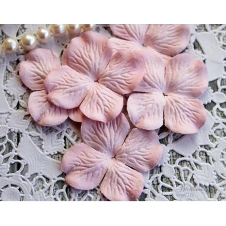 Цветы гортензии, цвет розовый, 50мм, 10 цветочков