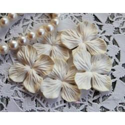 Цветы гортензии, цвет сливочный, 10цветочков