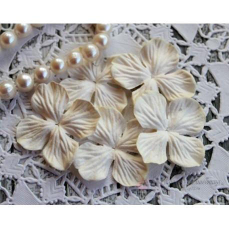 Цветы гортензии, цвет сливочный, 35мм, 1цветок